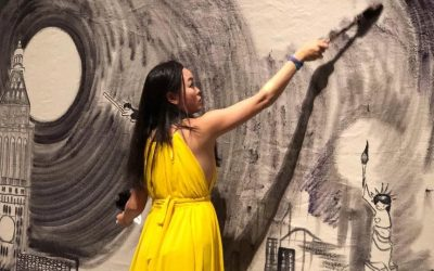 A live painting gig at Phillips New York